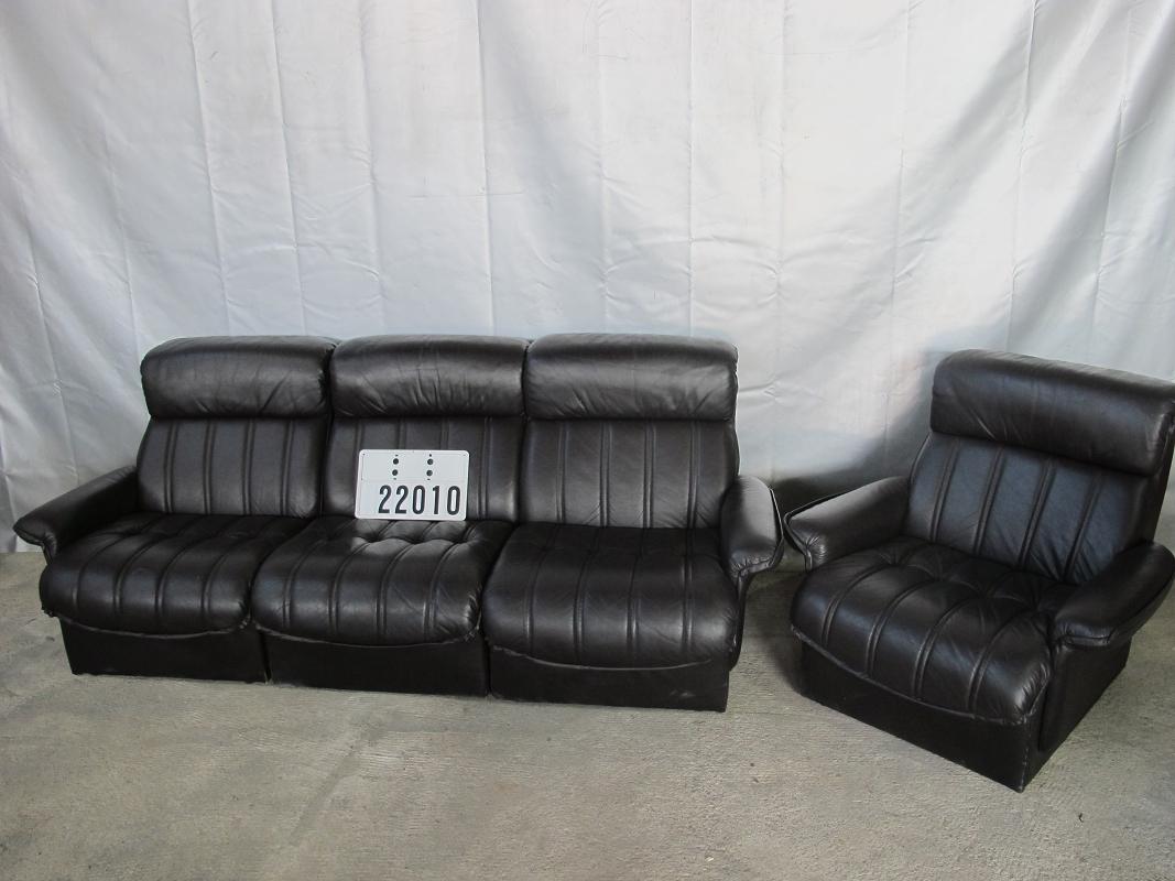leder sessel couch couchgarnitur sofagarnitur schwarz. Black Bedroom Furniture Sets. Home Design Ideas