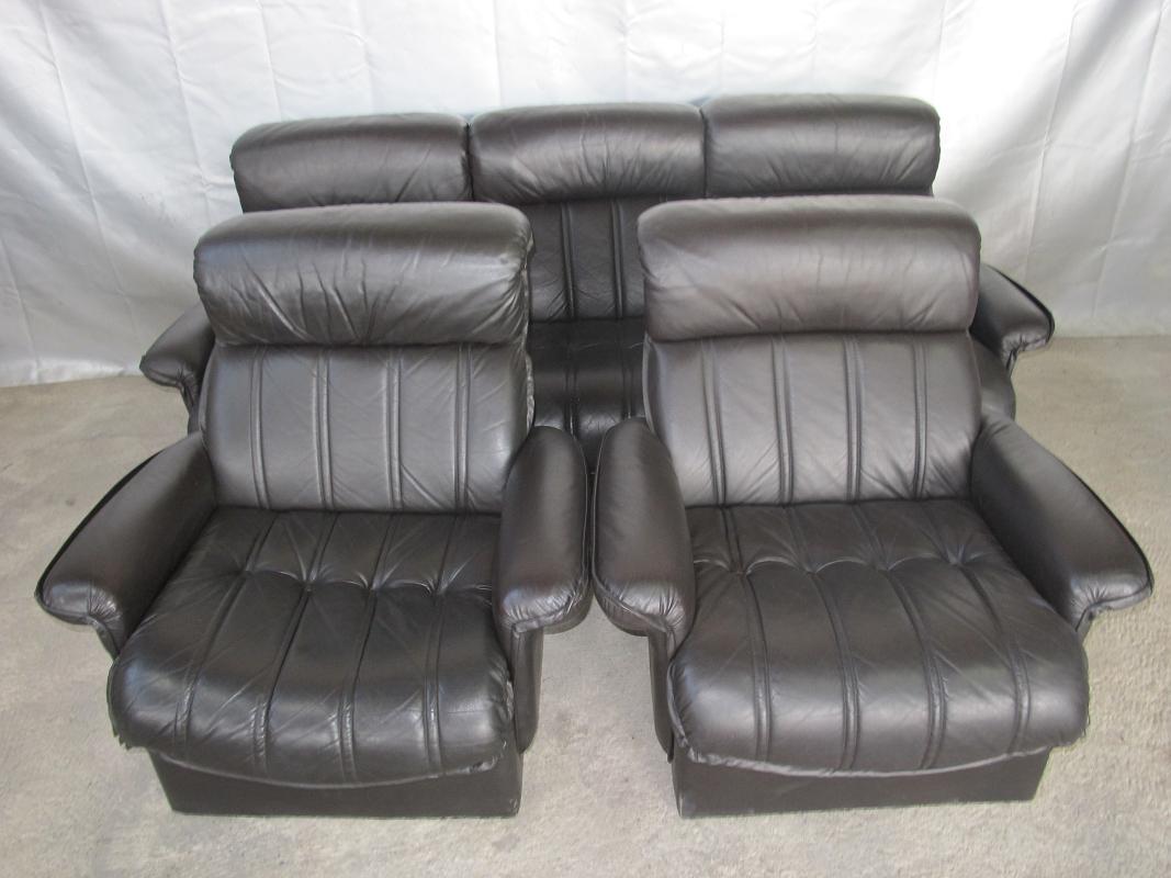 leder sessel couch couchgarnitur sofagarnitur schwarz 22010 ebay. Black Bedroom Furniture Sets. Home Design Ideas