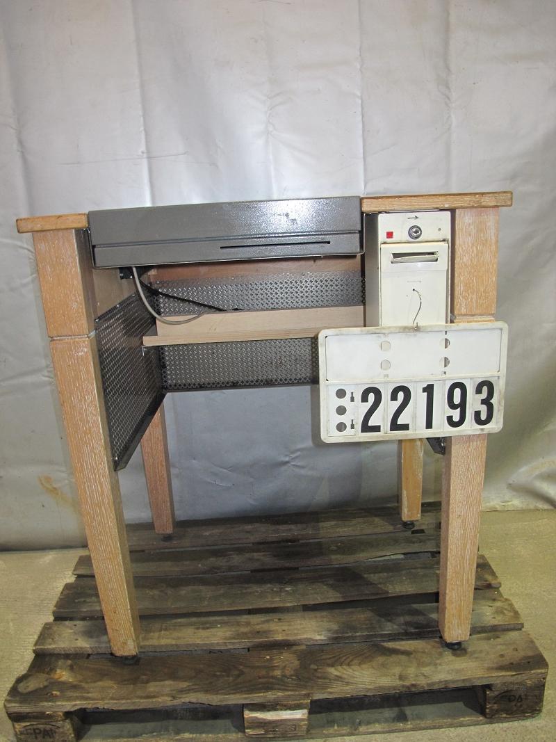tisch kassentisch kassentheke theke stehtisch echtholz mit 2 geldkasetten 22193 ebay. Black Bedroom Furniture Sets. Home Design Ideas