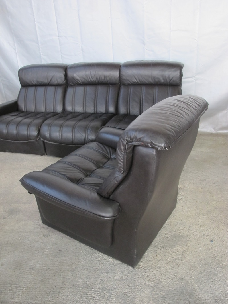 leder sessel couch couchgarnitur sofagarnitur schwarz 22010 ebay. Black Bedroom Furniture Sets. Home Design Ideas